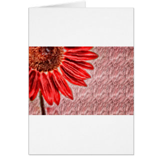 Red Sunflower Sketch Card