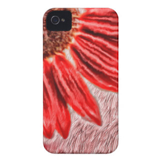 Red Sunflower Sketch iPhone 4 Cover