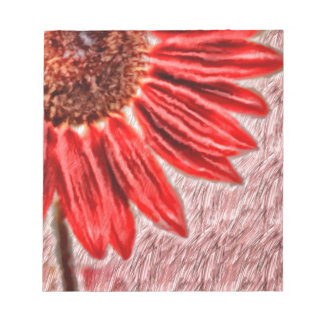 Red Sunflower Sketch Notepad