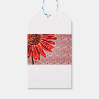 Red Sunflower Sketch Pack Of Gift Tags