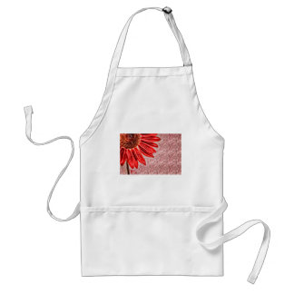 Red Sunflower Sketch Standard Apron