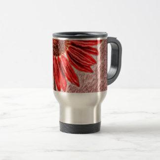 Red Sunflower Sketch Travel Mug
