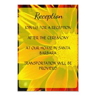 Red Sunflower Wedding Reception Card