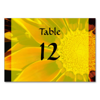 Red Sunflower Wedding Table Card