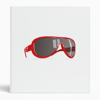 Red Sunglasses 3 Ring Binders