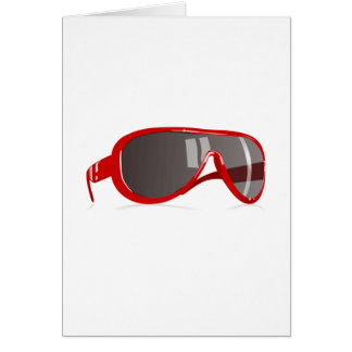 Red Sunglasses Greeting Cards