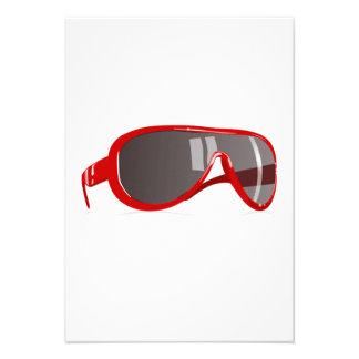 Red Sunglasses Personalized Invitations