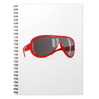 Red Sunglasses Spiral Notebook