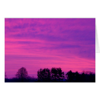 Red Sunrise Card