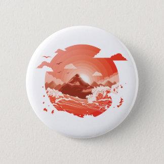 Red sunset 2 inch round button