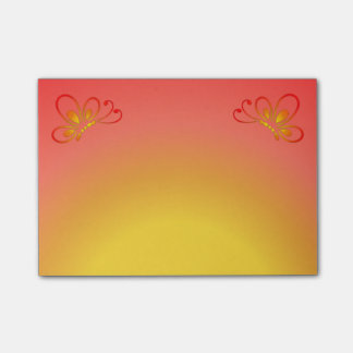 Red Sunset and Warm Butterfly Profiles Post-it Notes