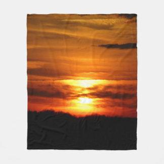 Red Sunset Blanket