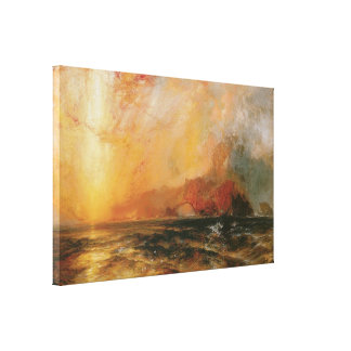 Red Sunset by Thomas Moran Stretched Canvas Print