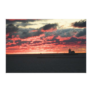 Red Sunset(Cleveland, OH Lighthouse) Canvas Print