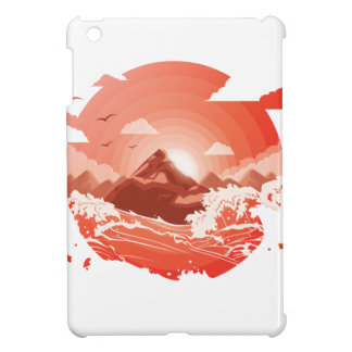 Red sunset cover for the iPad mini