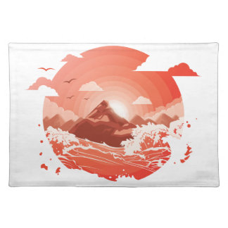 Red sunset placemat
