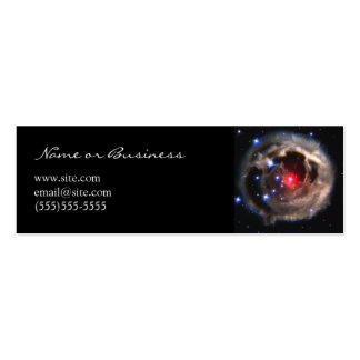 Red Supergiant Profile Card Business Card Template