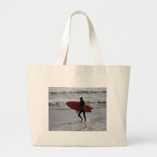 Red Surf Board Large Tote Bag