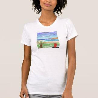 red surfboard on Kaanapali beach T-Shirt