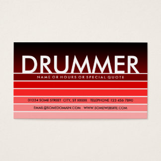 red swatch DRUMMER Business Card