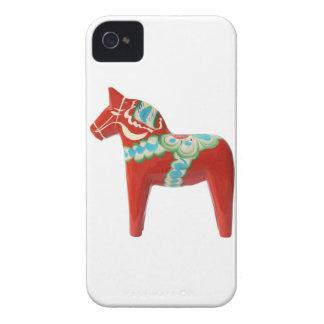 Red Swedish Dala Horse iPhone 4 Cases