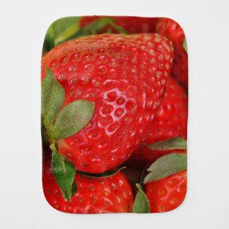 Red Sweet Strawberries Burp Cloths