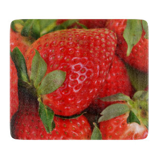 Red Sweet Strawberries Cutting Board