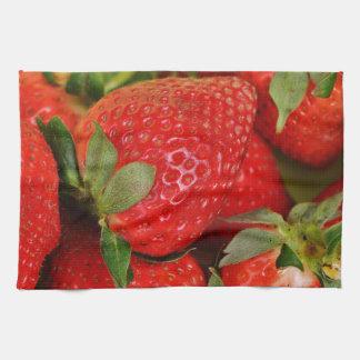 Red Sweet Strawberries Kitchen Towel