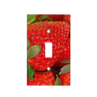 Red Sweet Strawberries Light Switch Cover
