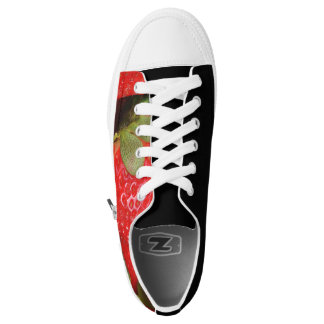 Red Sweet Strawberries Low-Top Sneakers