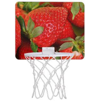 Red Sweet Strawberries Mini Basketball Hoop