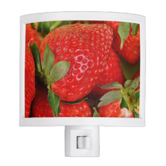 Red Sweet Strawberries Night Light