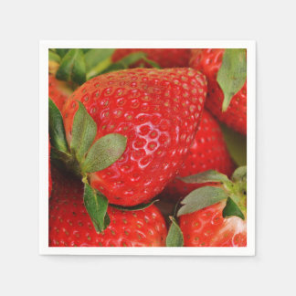Red Sweet Strawberries Paper Napkins