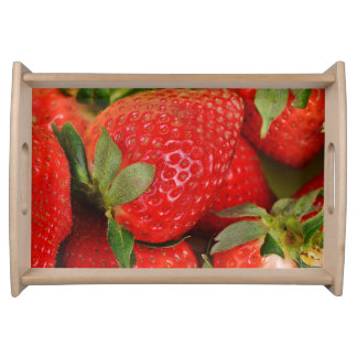 Red Sweet Strawberries Serving Tray