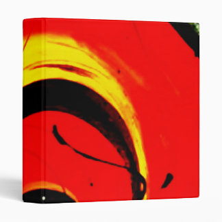 Red Swirl Abstract Art 3 Ring Binders