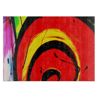 Red Swirl Abstract Art Boards