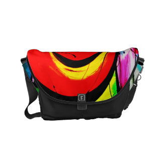 Red Swirl Abstract Art Courier Bag