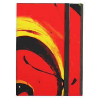 Red Swirl Abstract Art iPad Air Cover