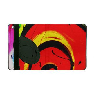 Red Swirl Abstract Art iPad Case