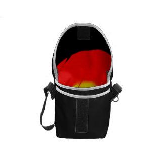 Red Swirl Abstract Art Messenger Bag