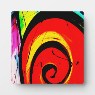 Red Swirl Abstract Art Plaque