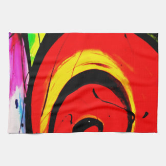 Red Swirl Abstract Art Towel
