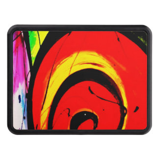 Red Swirl Abstract Art Trailer Hitch Cover