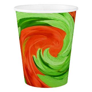 Red Swirls paper cups