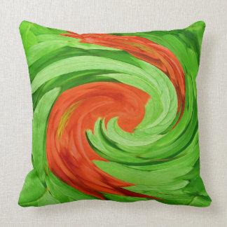 RED SWIRLS throw pillow