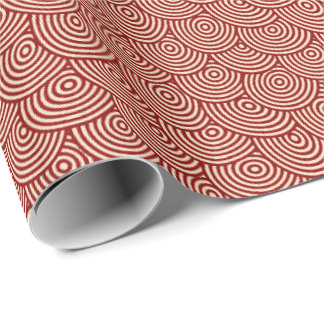 Red Swirls Wrapping Paper