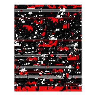 Red symphony custom letterhead
