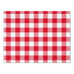 """red table cloth 4.25"""" x 5.5"""" invitation card"""