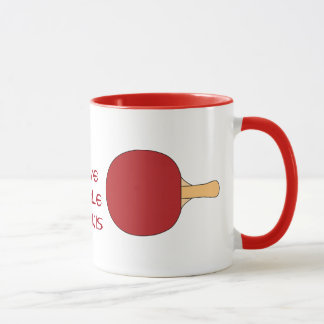 Red Table Tennis Racquet Mug