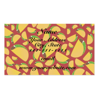 Red taco pattern pack of standard business cards